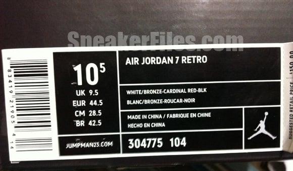 Air Jordan Retro 7 Cardinal Selling Early Foot Locker San Antonio