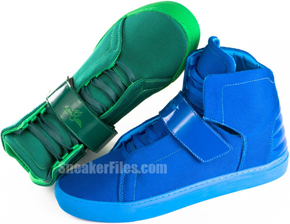 Creative Recreation Geno Electric Green, Primary Blue