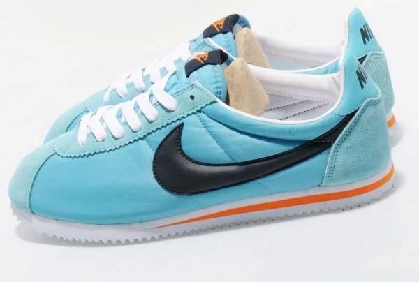 Nike Classic Cortez Nylon - Mineral Blue/Obsidian-Bright Mandarin - Available