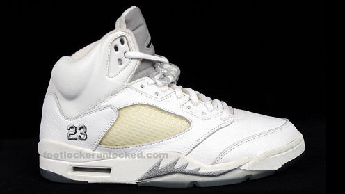 A Look Back: Air Jordan Retro V (5) White/Metallic Silver-Black