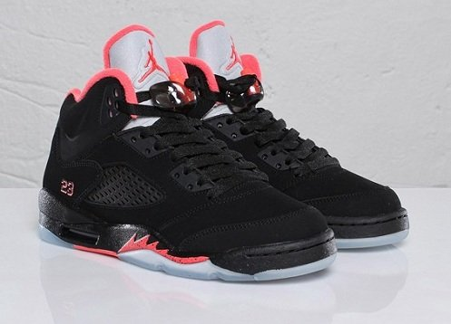 Air Jordan Retro V (5) GS Black/Alarming Red In Stores Now
