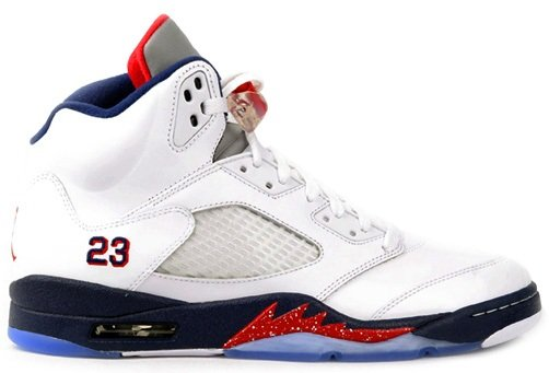 Air Jordan Retro V (5) White/Varsity Red-Obsidian - Available for Pre-Order