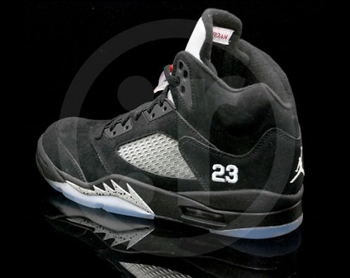 Air Jordan V (5) Black/Varsity Red-Metallic Silver - More Images
