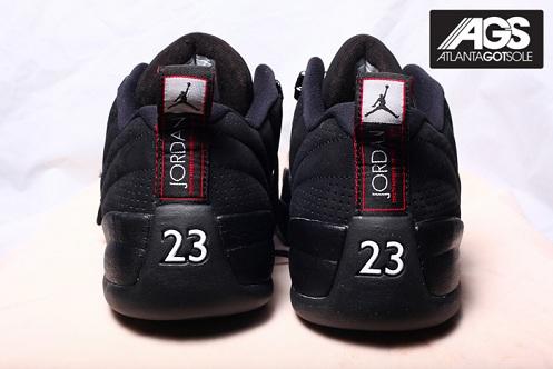 Air Jordan XII (12) Low Black/Red - More Images