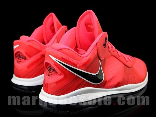 Nike LeBron 8 V2 - Red/Black/White