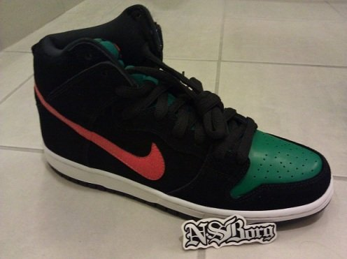 Nike SB Dunk High - Deer Orange/Hunter Green