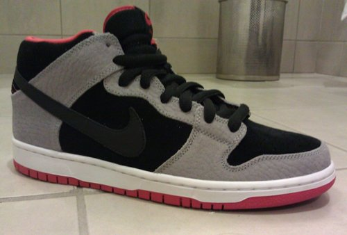 Nike SB Dunk Mid - Grey Pebbled Leather