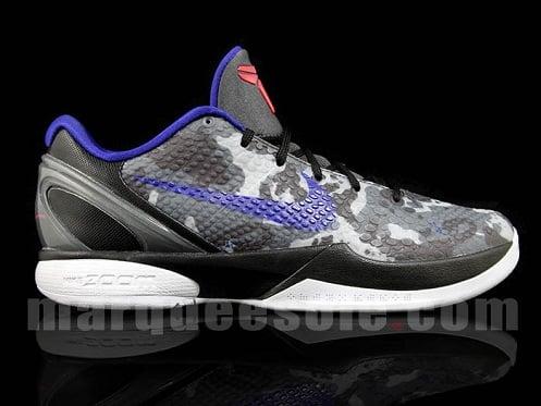 """Nike Zoom Kobe VI """"Camo"""" - Black/Grey/Concord"""