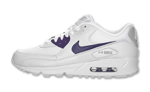 Women's Nike Air Max 90 - White/Club Purple
