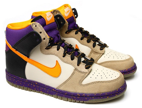 Women's Nike Dunk High - Beige/Purple/Orange