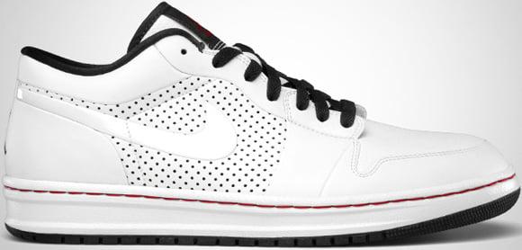 Air Jordan Alpha 1 Low White Black-Varsity Red July 2011