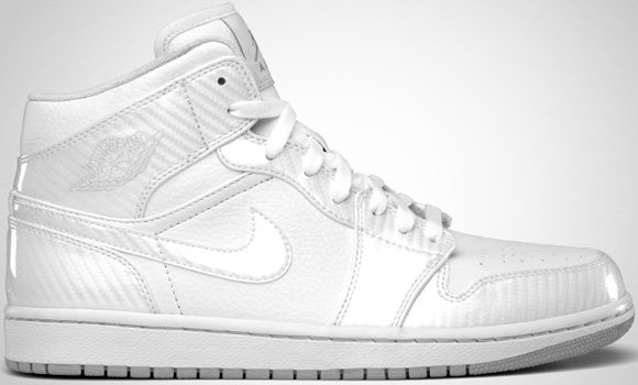 Air Jordan I (1) Phat White Wolf Grey White July 2011