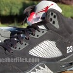 Air Jordan V (5) Retro Black Metallic Silver 2011 Detailed Look