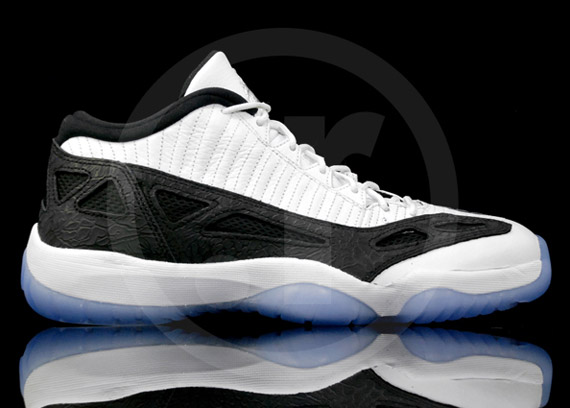 Air Jordan XI IE Low - White/Black-Metallic Silver - Available Early