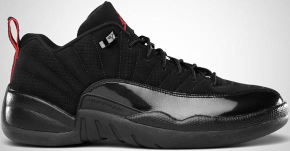 Air Jordan XII (12) Low Black Varsity Red Release Date