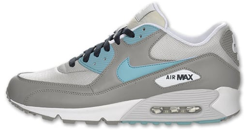 Nike Air Max 90 Grey Mineral Blue Neutral Grey Obsidian