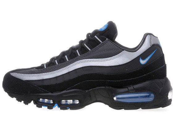 Nike Air Max 95 - Black/Metallic Silver-Photo Blue - Available