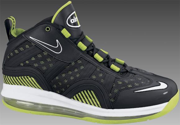 Nike Air Max Sensation 2011 Black White-Bright Kiwi