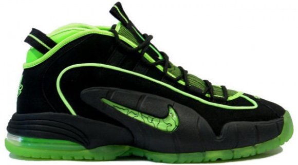 Release Reminder: Nike Air Penny 1 Black Electric Green Highlighter Pack