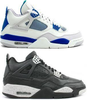 Air Jordan IV (4) Retro 2012 - Military + Oreo