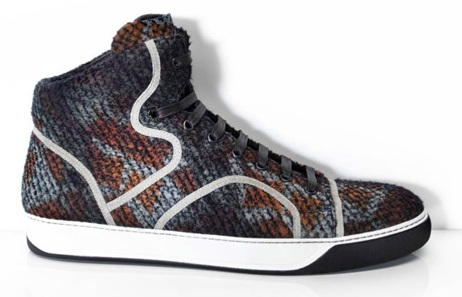 Lanvin Chiffon & Wool Sneakers - High & Low