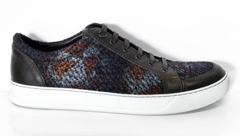 Lanvin Chiffon & Wool Sneakers - High & Low