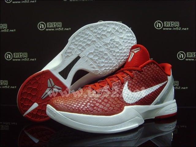 Nike Zoom Kobe 6 TB Varsity Red White Metallic Silver
