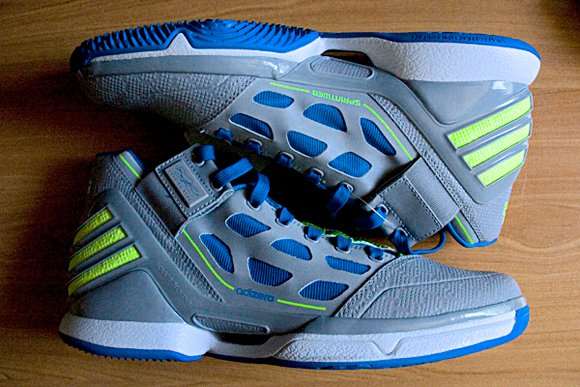 adidas adiZero Rose 2 Grey White Blue-Electricity