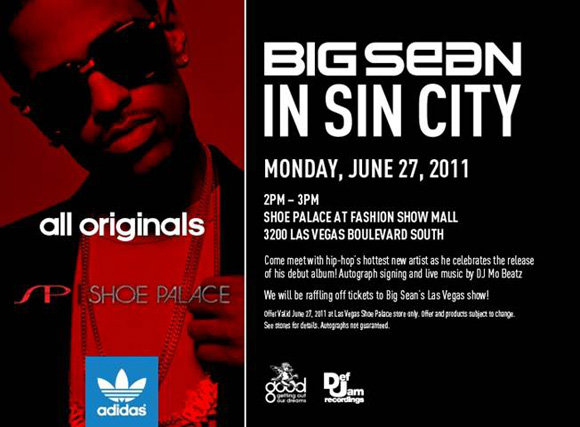 adidas Originals and Big Sean at Shoe Palace Las Vegas