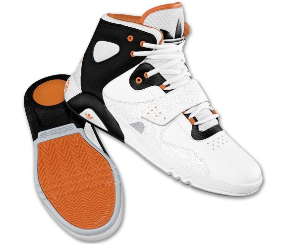 Adidas Originals Roundhouse Mid White Black-Orange