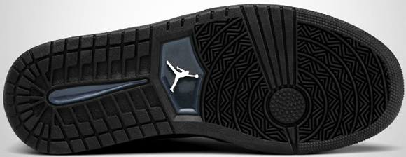 Air Jordan 1 Alpha Low Black Black-Matte Silver August 2011