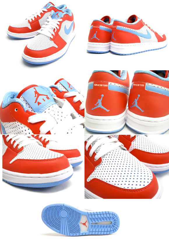 Air Jordan Alpha 1 Low White University Blue Challenge Red