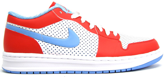 outlet store 0b962 64c15 Air Jordan Alpha 1 Low White University Blue Challenge Red