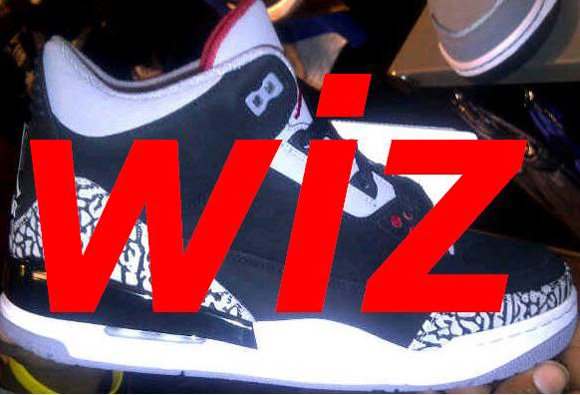 Air Jordan III (3) Retro 2011 Black Cement Nubuck Sample