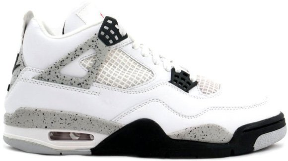 Air Jordan IV (4) White Cement Releasing February 2012