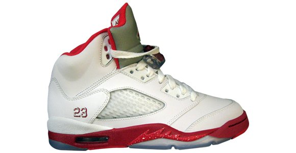 Air Jordan V (5) Retro Girls Red White Grey
