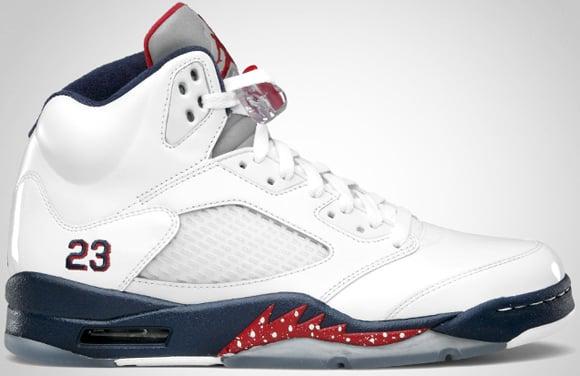 Air Jordan V (5) White Varsity Red-Midnight Navy Release Date