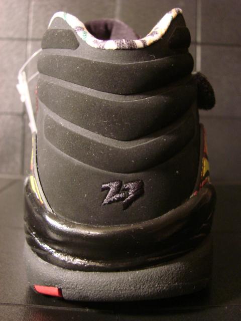 Air Jordan VIII (8) Low Womens Black Zest-Varsity Red Sample