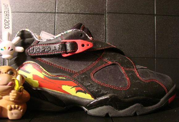 Air Jordan VIII (8) Low Womens Black Zest-Varsity Red Sample