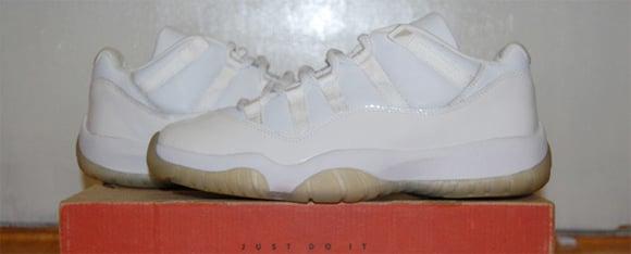 Air Jordan XI (11) Low White Light Zen Grey Sample