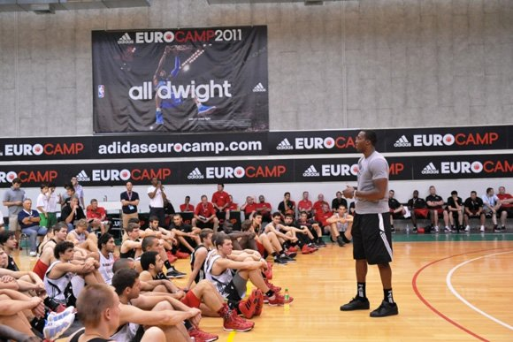 Dwight Howard Visits the adidas Eurocamp in Treviso, Italy