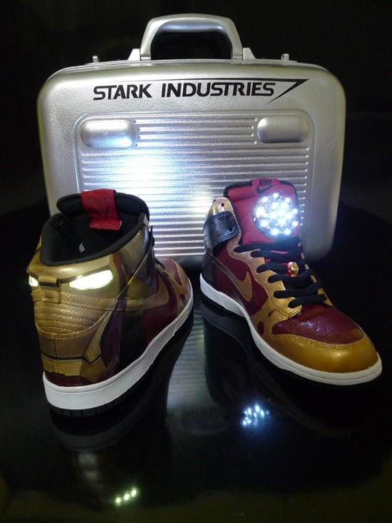 quality design 0bfea a2141 Nike Dunk High Custom - Iron Man by ...