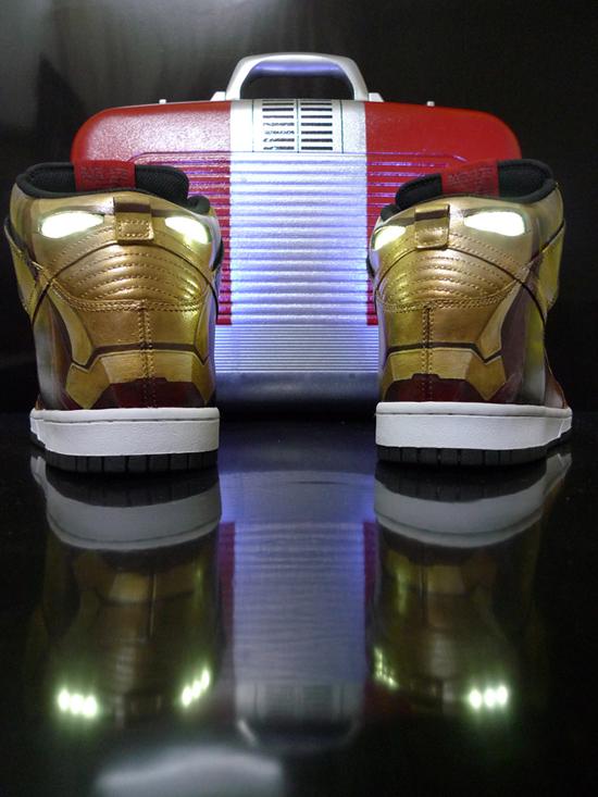 Nike Dunk High Custom - 'Iron Man' by J'field Yeo