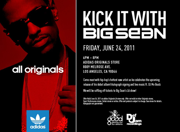 Kick It With Big Sean at Adidas Originals Store Los Angeles
