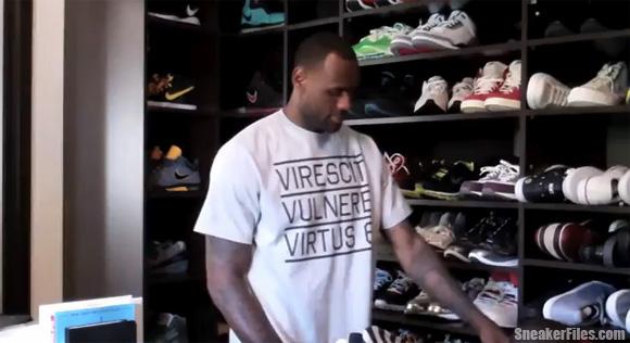 LeBron James Sneaker Closet