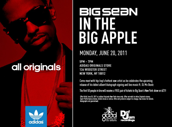 Meet Big Sean at adidas Originals Store in New York