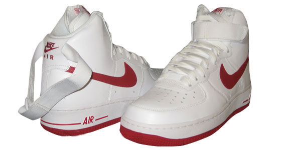 Nike Air Force 1 High White Varsity Red