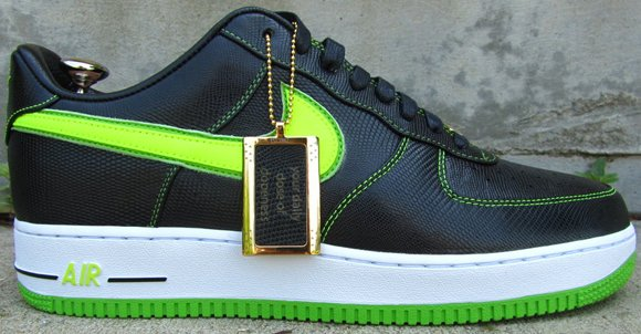 lime green air force ones