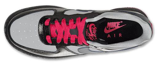 Nike Air Force 1 Low GS Black Metallic Hematite Wolf Grey Cerise