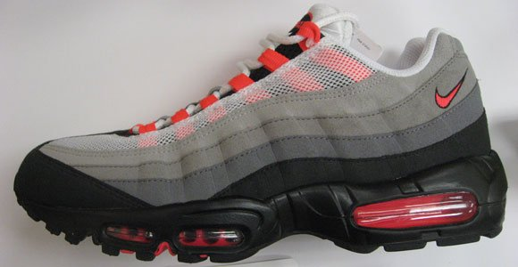 6adb67ac77c Nike Air Max 95 Grey Solar Red Releasing July 2011